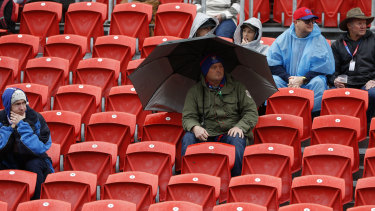 A dismal crowd attended the game as the Knights just kept their finals hopes flickering.