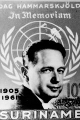 The South American country Suriname released a memorial stamp following Hammarskjold's death.