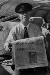 """""""I am a citizen of the sea."""" Von Luckner on board his yacht on May 31, 1938."""