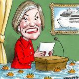 Carnival Australia chief executive Ann Sherry. Illustration: John Shakespeare
