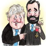 Boris Johnson and Isaac Levido.