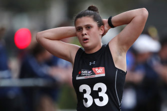 Nell Morris-Dalton at the AFLW draft combine in early October.