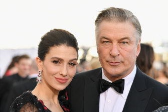 Hilaria and Alec Baldwin at the Screen Actors Guild Awards in January 2019.