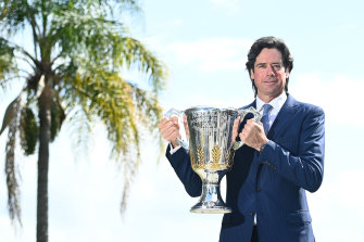 AFL supremo Gillon McLachlan hosted a knees-up for the rich and famous