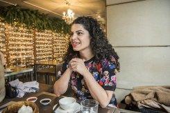 Sheryn Omeri at one of her favourite vegan restaurants in Sydney.