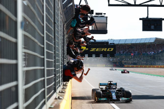 Lewis Hamilton wins at Silverstone.