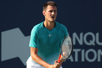 Bernard Tomic will be looking to advance past the opening round at Melbourne Park for the first time since 2017.