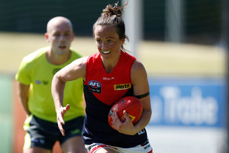 Daisy Pearce is back in action for the Dees.
