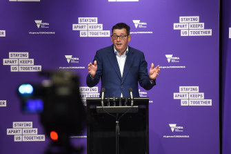 Premier Daniel Andrews announced 12 deaths on Saturday, including a man in his 30s.