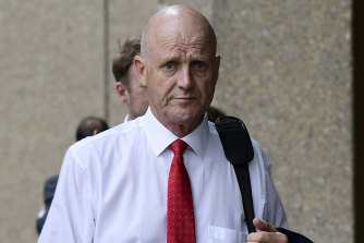 Former senator David Leyonhjelm outside the Federal Court in May.