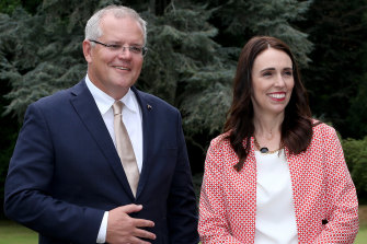 Prime Minister Scott Morrison and Jacinda Ardern, Prime Minister of New Zealand.
