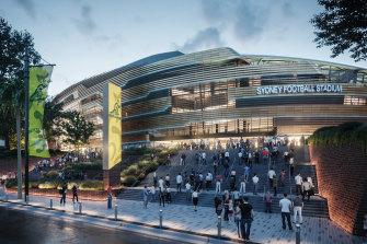 The updated design of the Sydney Football Stadium.