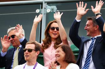 The Duchess of Cambridge enjoying this year's Wimbledon championships.