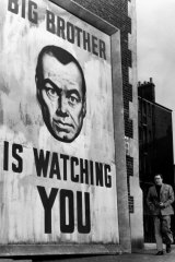 Edmond O'Brien as Winston Smith in the 1956 film version of Nineteen Eighty-Four.