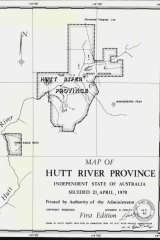"Australia's newest so called ""State"", the Hutt River Province, has produced its first official map (left)."