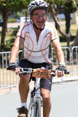 Mr Boegheim during a previous Brisbane to Gold Coast Cycle Challenge.