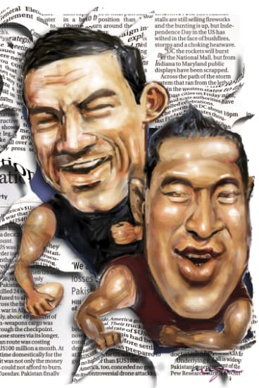 Breakout stars: Sonny Bill Williams and Israel Folau have been responsible for many newspaper column inches between them.
