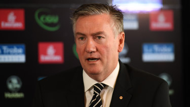 Fishing: Collingwood president Eddie McGuire was unable to make Carlton take his Alastair Clarkson bait.