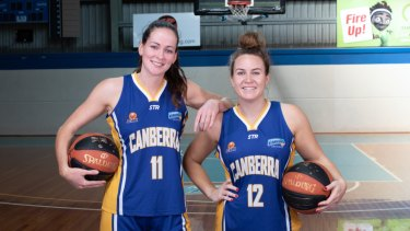 Keely Froling and Kate Gaze suited up for Canberra last year.