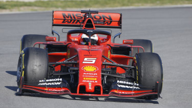 Sebastian Vettel during pre-season testing.