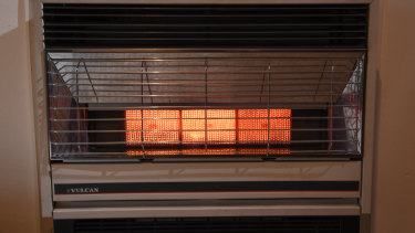 An open-flued wall heater.