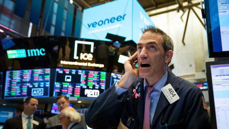 Wall Street edged higher at the close after a topsy-turvy day.