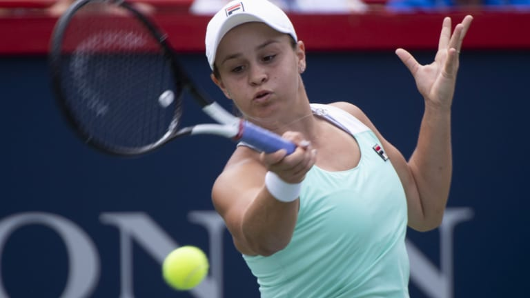 """I'm very happy to come through and get a little bit better during the match"": Ashleigh Barty."