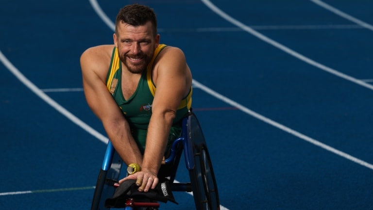 Humble: Paralympics legend Kurt Fearnley.