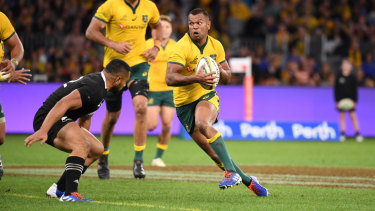 Kurtley Beale was one of Australia's best in the big win over the All Blacks in Perth.