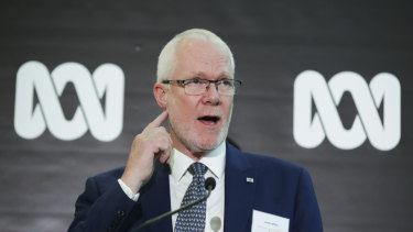 Staying put: ABC chairman Justin Milne.