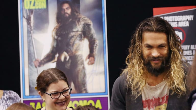 Jason Momoa, star of DC's Aquaman which came to film on the Gold Coast last year.