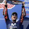 Vinales ends Yamaha's record winless streak in Philip Island MotoGP