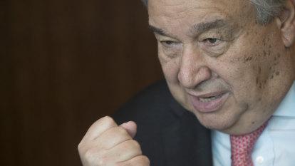 UN chief Antonio Guterres says climate change fight fading