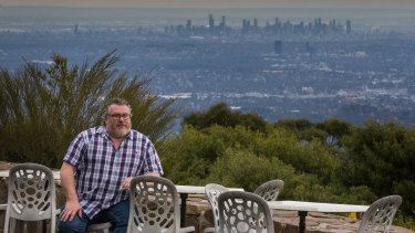 Richard Pitts said businesses in Mount Dandenong have been hit hard with prolonged closures after recent storms.