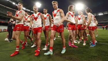 The triumphant Swans.