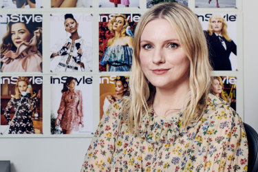 Brown in the New York office of 'InStyle' magazine.