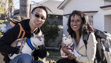Hasara Lay and her husband Daniel live in Silverwater but choose to holiday in Sydney so they can travel with their cats.