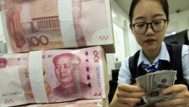 China has been pushing to make the yuan a more international currency, with limited success.