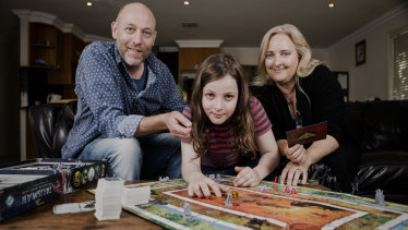 Callum McPhie at home in Canberra with his parents Doug McPhie and Melissa Freeman in 2016 when he was on Australia's Got Talent.