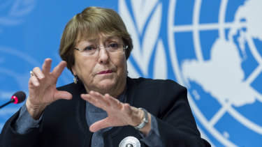 """We stand ready to engage constructively"": UN human rights chief Michelle Bachelet"