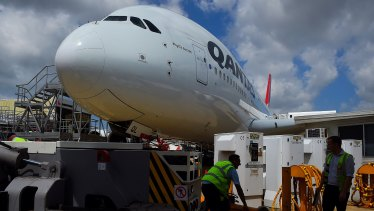 Some of Qantas's superjumbos will be inspected.