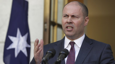 Treasurer Josh Frydenberg earlier this month.