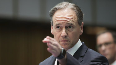 Minister for Health Greg Hunt during a press conference to provide a update on the coronavirus.