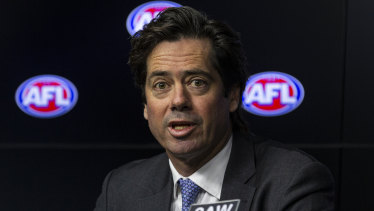 Gillon McLachlan says the AFL has a role to play in public debates.
