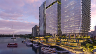 Waterfront Brisbane, a $2.1 billion Dexus project proposed for the site of Eagle Street Pier.