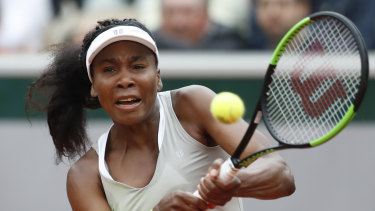Venus Williams lost her first round match to Ukraine's Elina Svitolina.