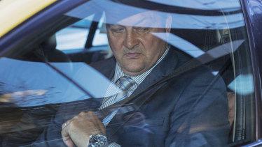 Paul Dale leaves the royal commission last week.