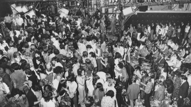 The cast and audience mix after the performance.