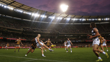 Gary Ablett in action at the MCG on Monday.
