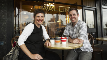Abigail Forsyth and Jamie Forsyth in the early days of KeepCup in 2010.